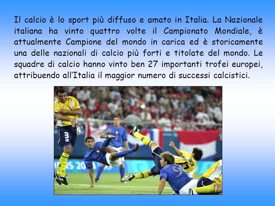 Il calcio è lo sport più diffuso e amato in Italia