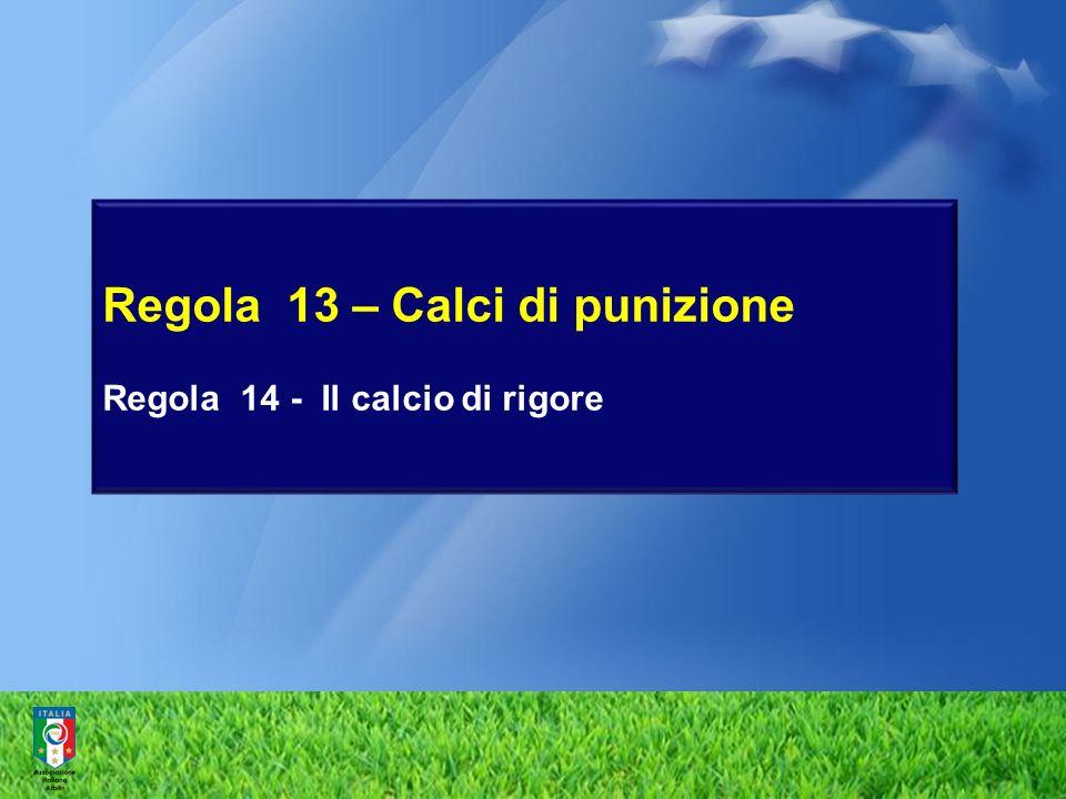 Regola 13 – Calci di punizione Regola 14 - Il calcio di rigore