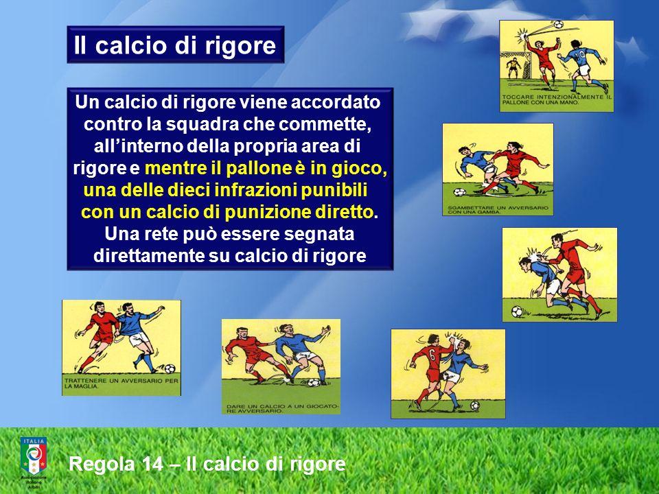 Il calcio di rigore Regola 14 – Il calcio di rigore