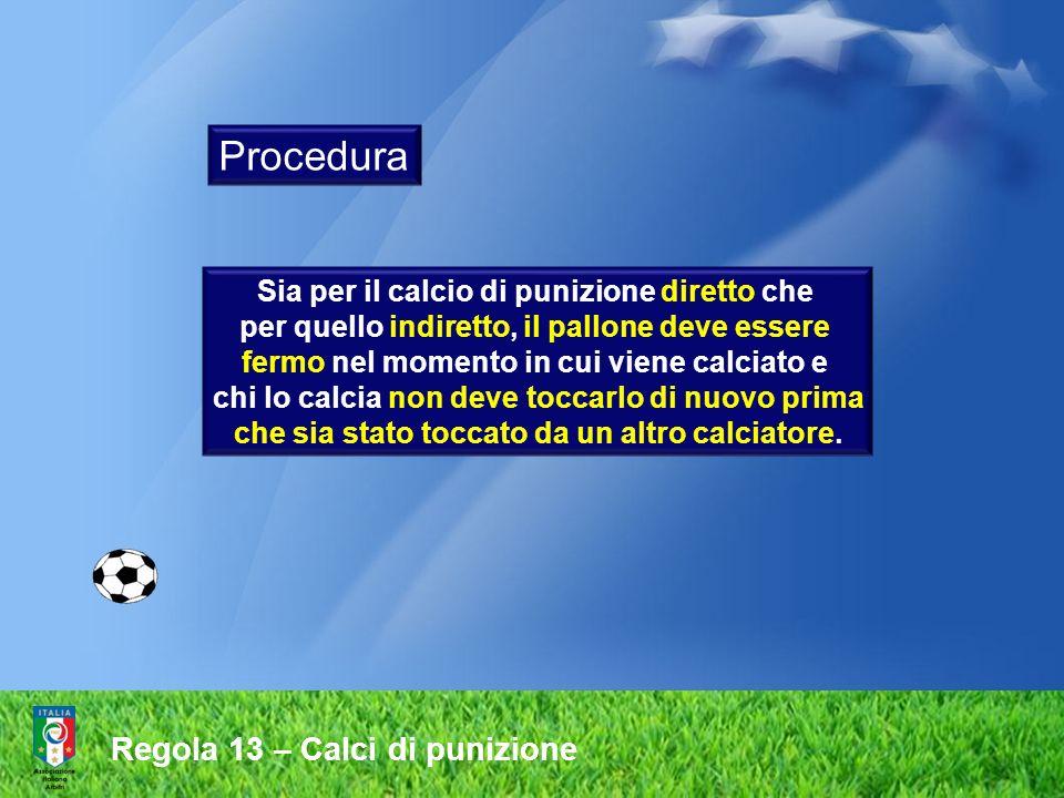 Procedura Regola 13 – Calci di punizione