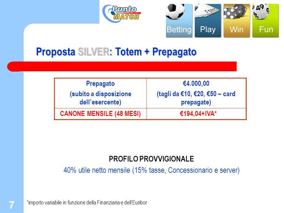 Proposta SILVER: Totem + Prepagato