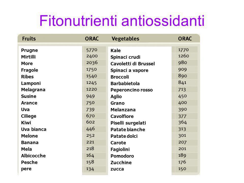 Fitonutrienti antiossidanti