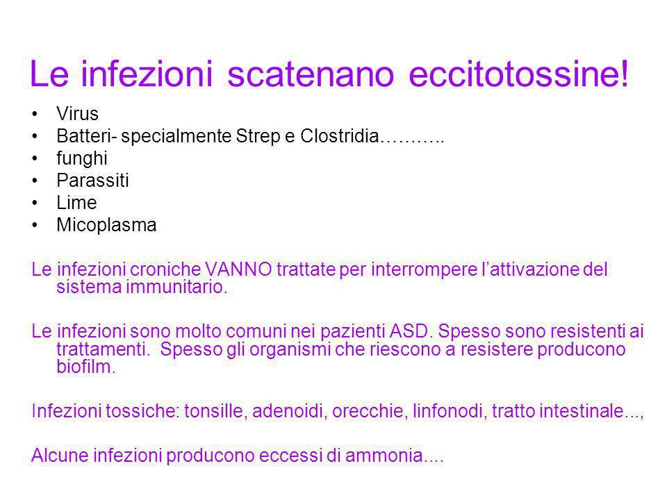 Le infezioni scatenano eccitotossine!