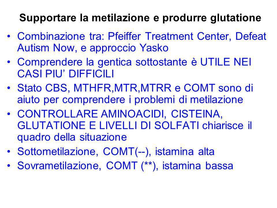 Supportare la metilazione e produrre glutatione