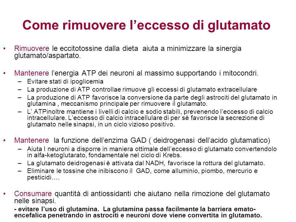Come rimuovere l'eccesso di glutamato