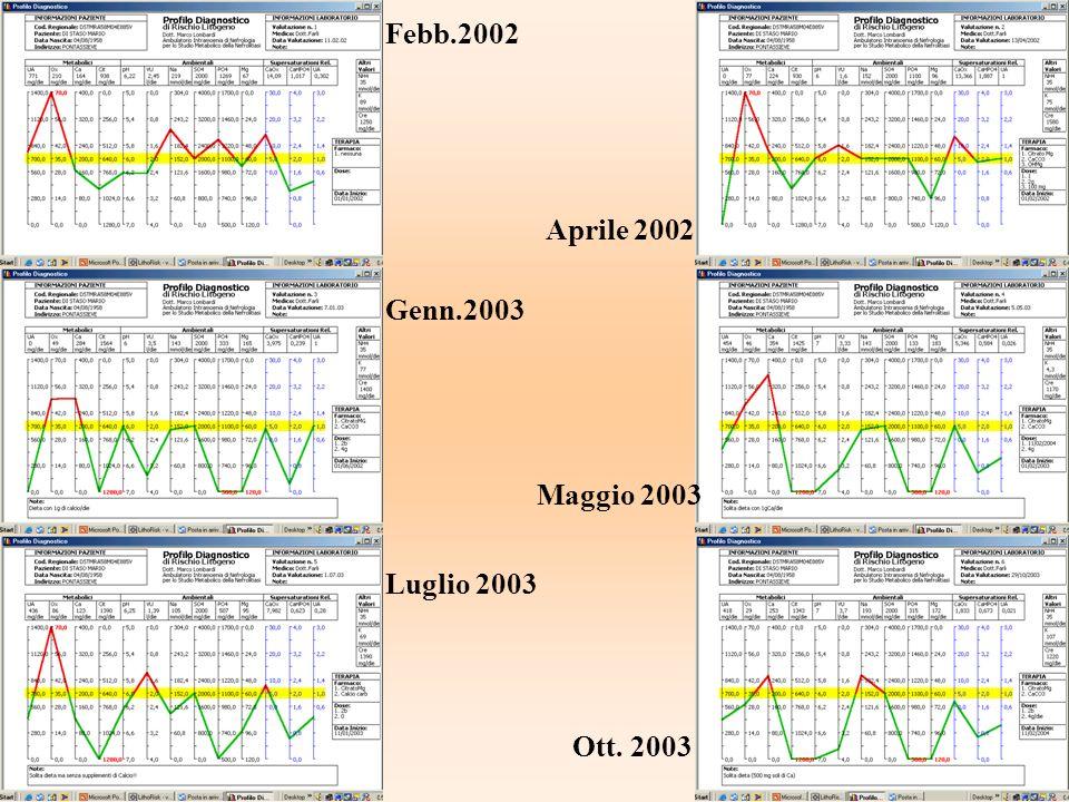 Febb.2002 Aprile 2002 Genn.2003 Maggio 2003 Luglio 2003 Ott. 2003