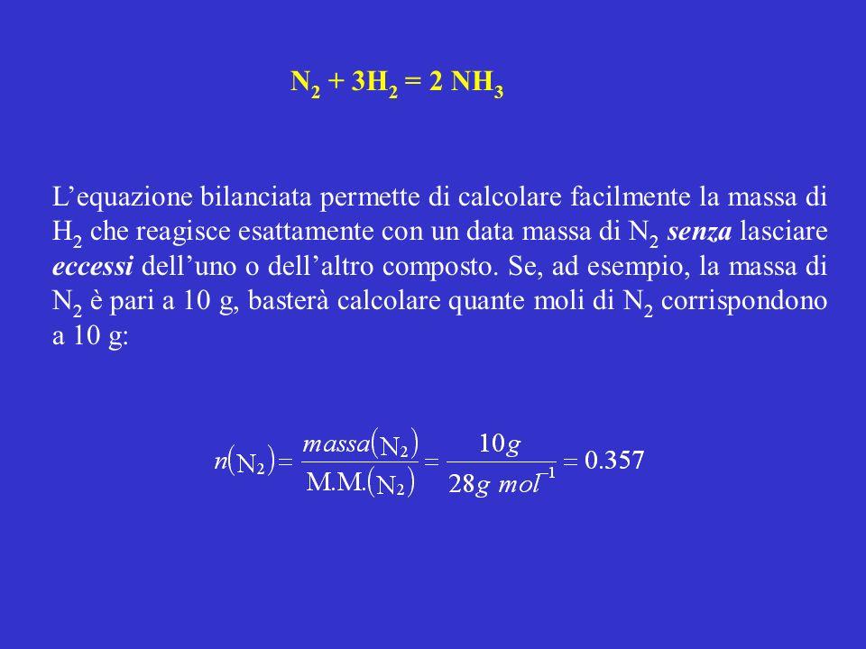N2 + 3H2 = 2 NH3