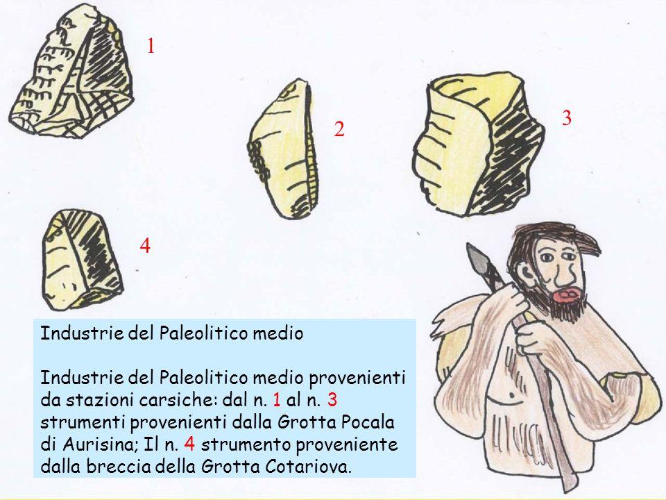 1 3 2 4 Industrie del Paleolitico medio