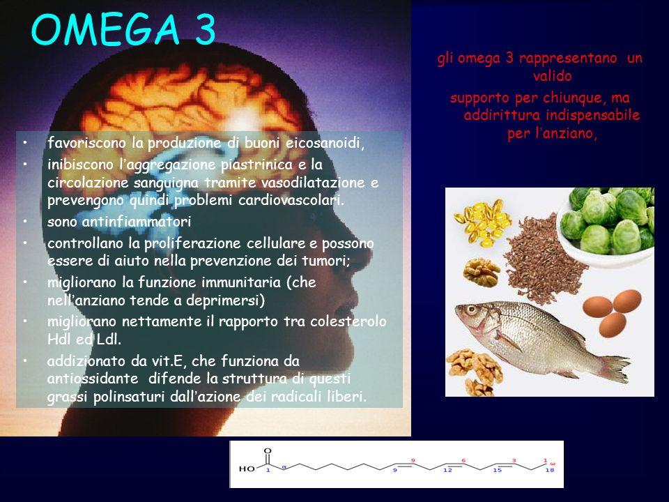 OMEGA 3 gli omega 3 rappresentano un valido