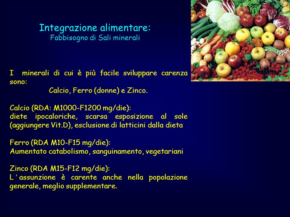 Integrazione alimentare: