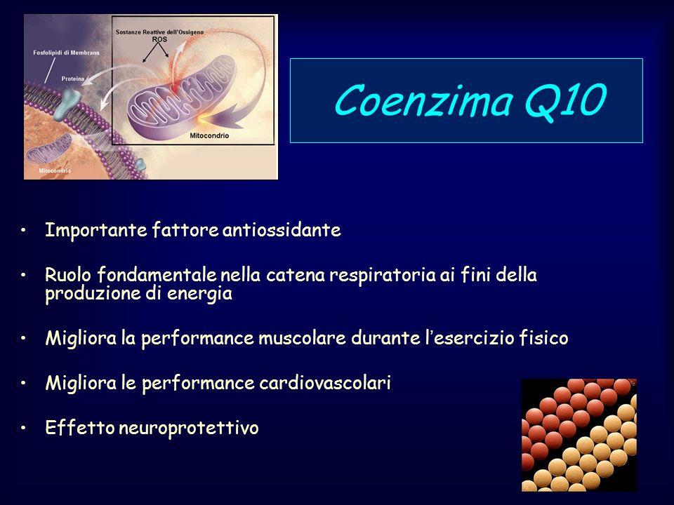 Coenzima Q10 Importante fattore antiossidante
