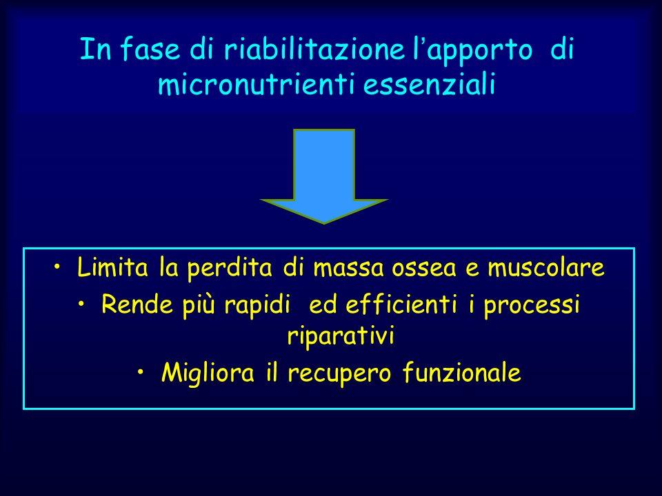 In fase di riabilitazione l'apporto di micronutrienti essenziali
