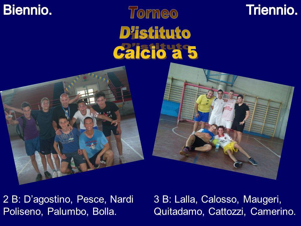 Torneo D'istituto Calcio a 5 Biennio. Triennio.