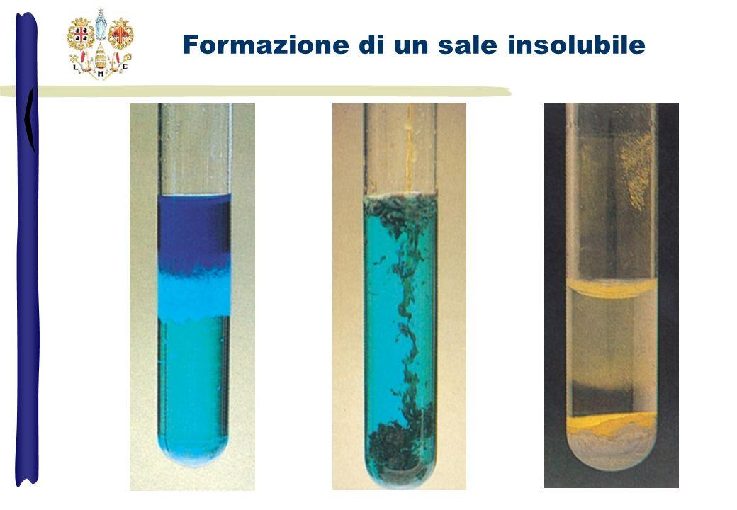 Formazione di un sale insolubile