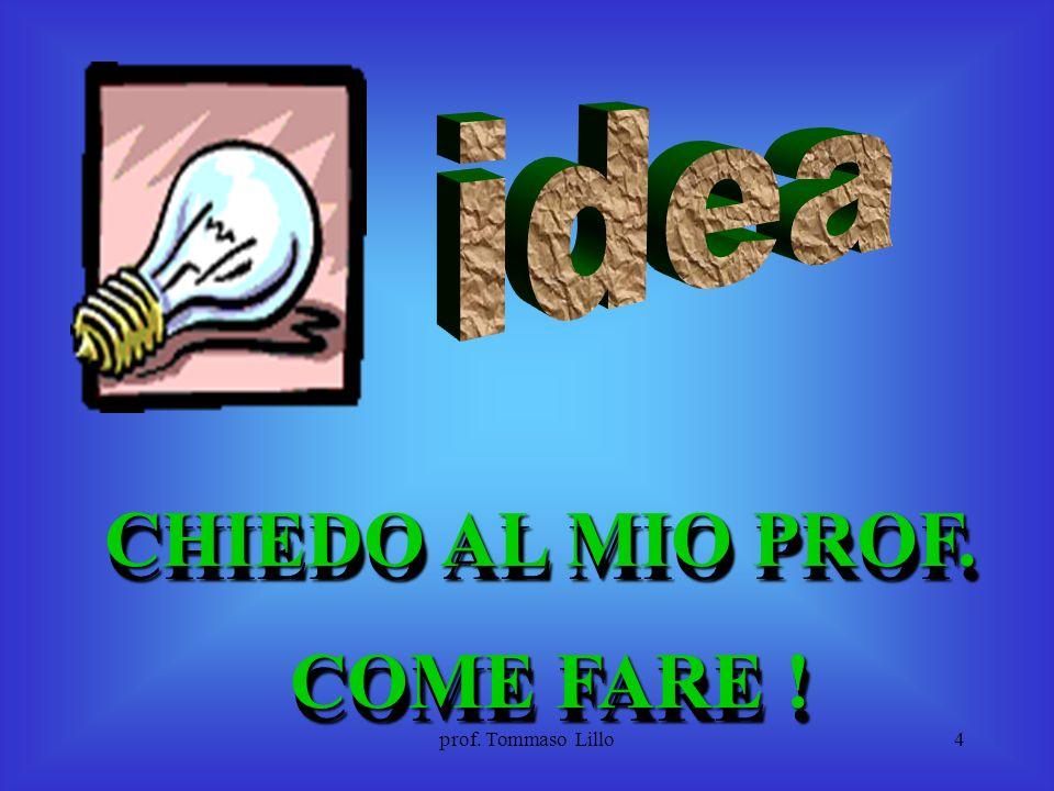 CHIEDO AL MIO PROF. COME FARE !