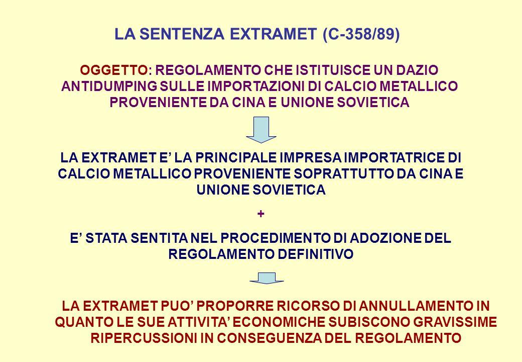 LA SENTENZA EXTRAMET (C-358/89)