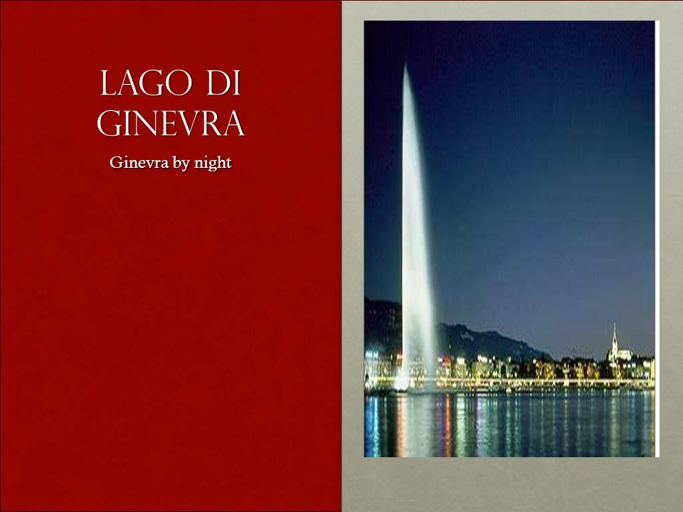 Lago di ginevra Ginevra by night Ginevra by night