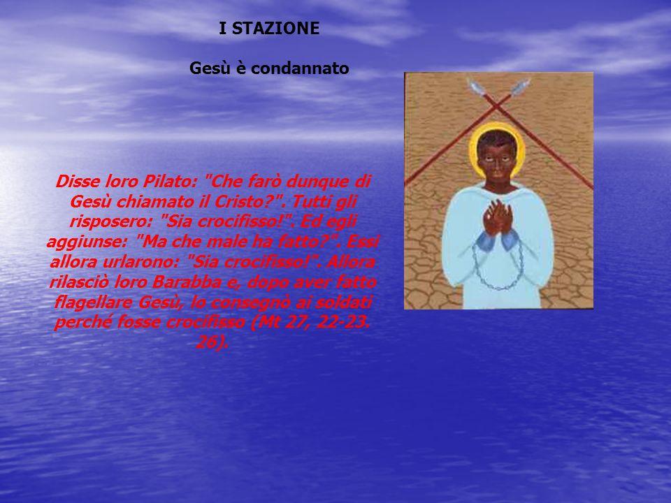 I STAZIONE Gesù è condannato.