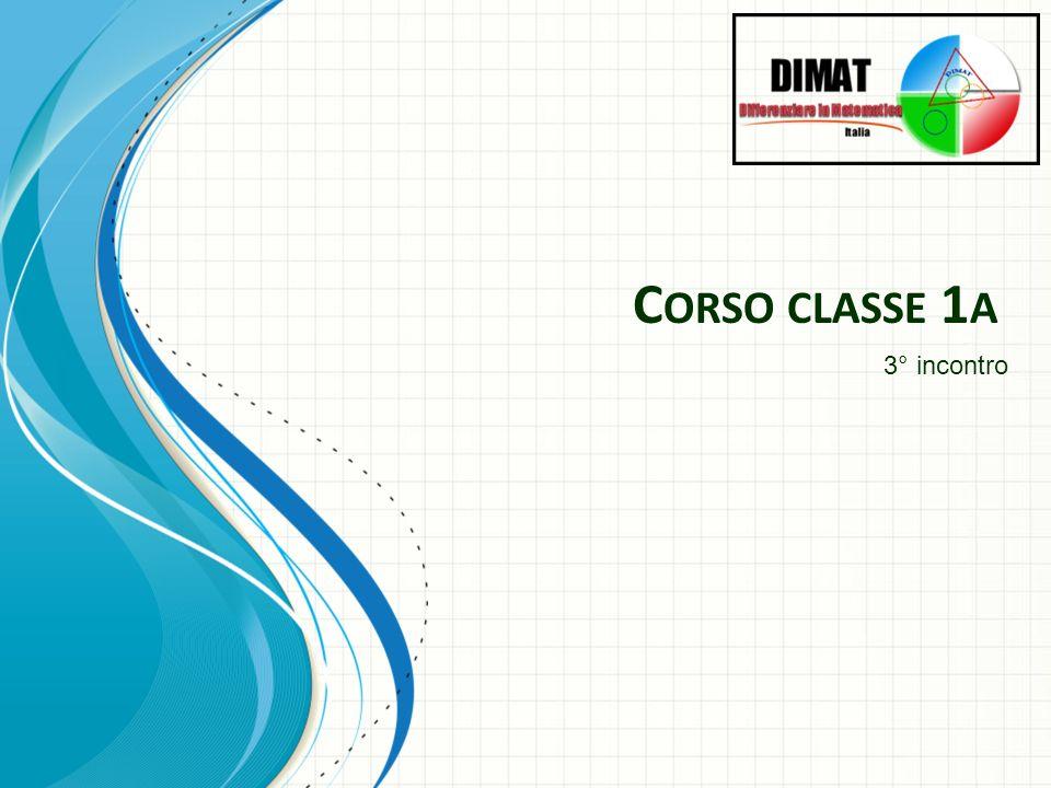 Corso classe 1a 3° incontro