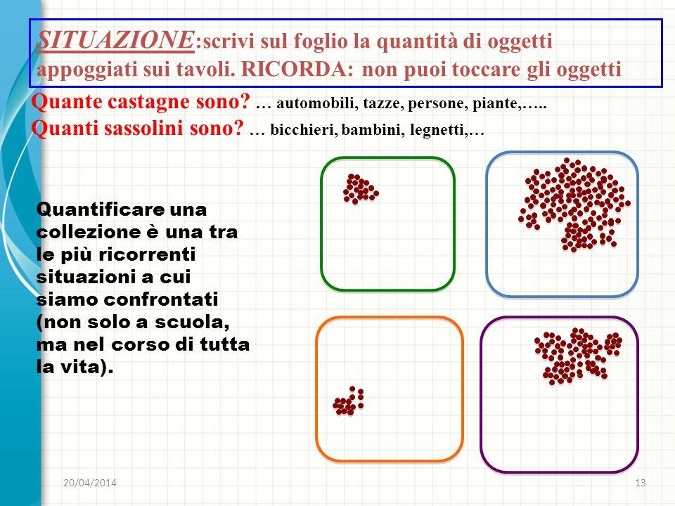 SITUAZIONE:scrivi sul foglio la quantità di oggetti appoggiati sui tavoli. RICORDA: non puoi toccare gli oggetti