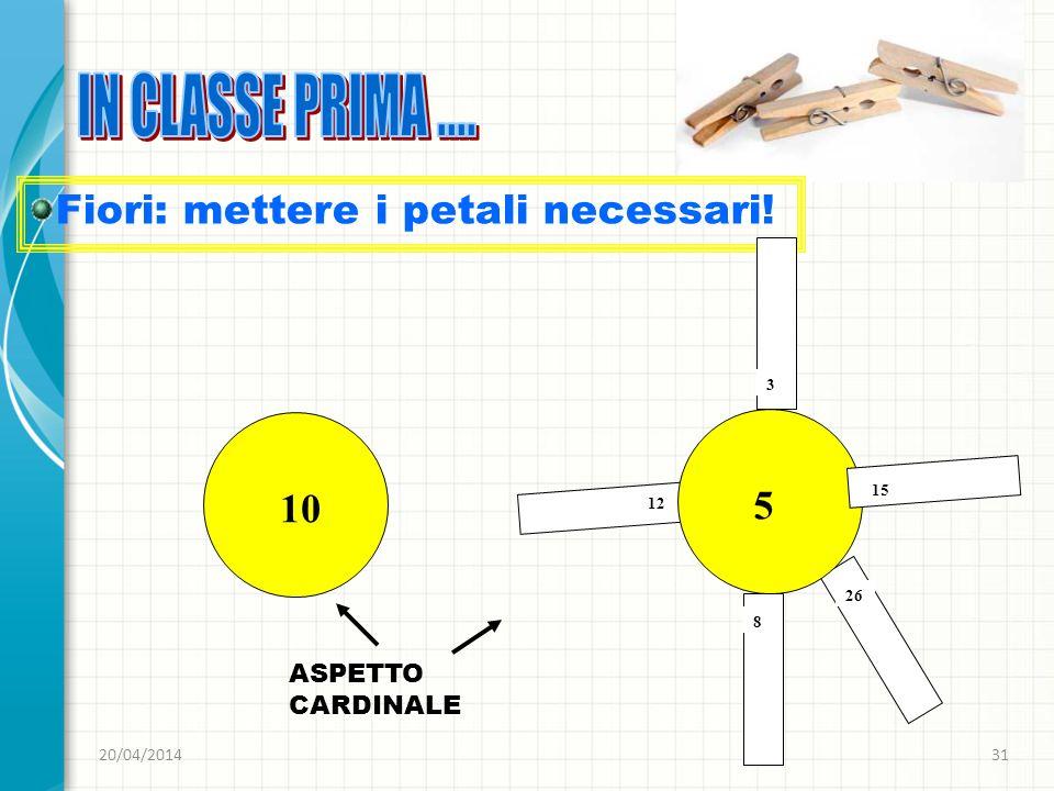 IN CLASSE PRIMA .... Fiori: mettere i petali necessari! 5 10
