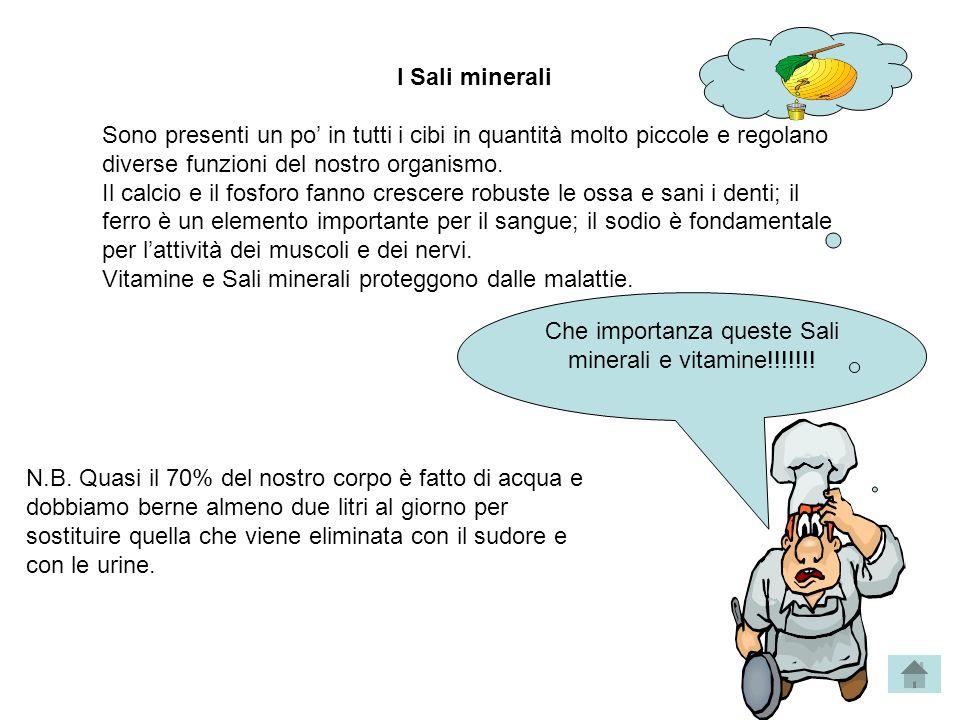Che importanza queste Sali minerali e vitamine!!!!!!!