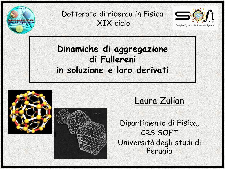Dinamiche di aggregazione di Fullereni in soluzione e loro derivati