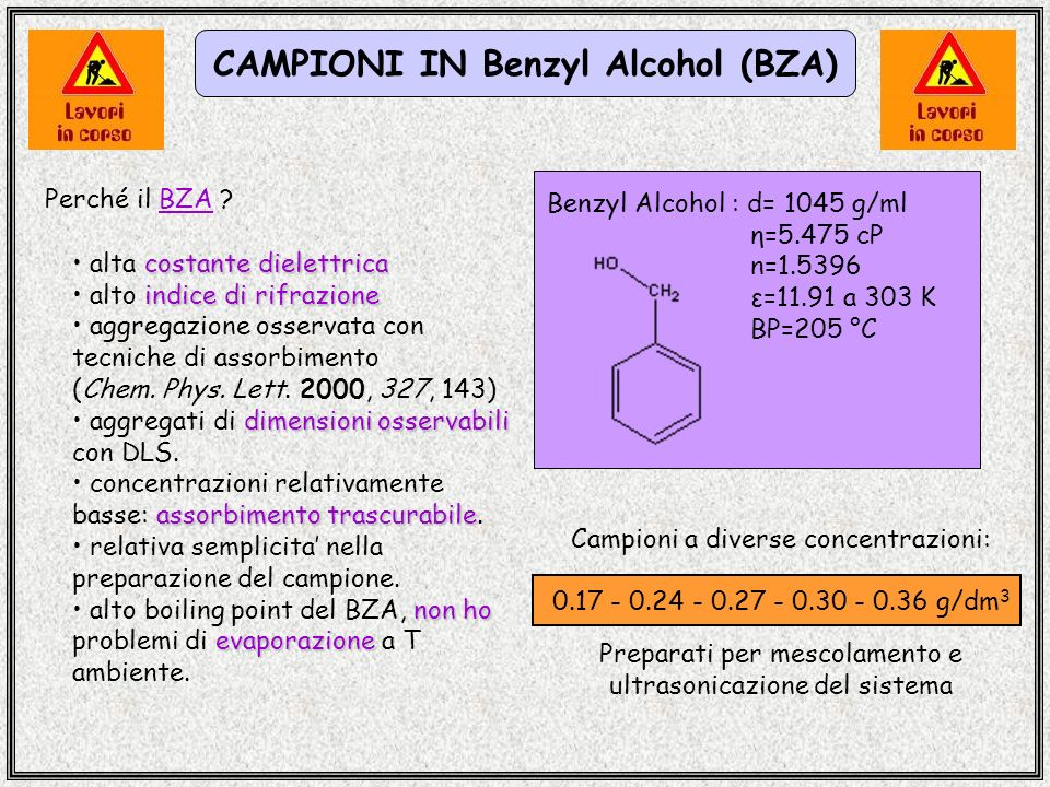CAMPIONI IN Benzyl Alcohol (BZA)