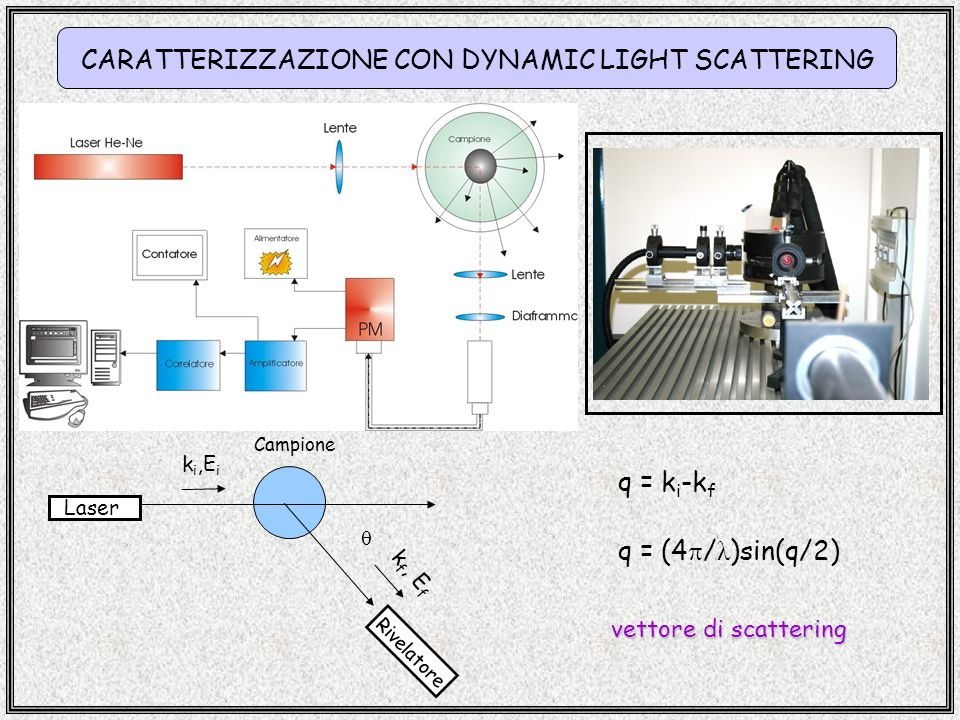 CARATTERIZZAZIONE CON DYNAMIC LIGHT SCATTERING