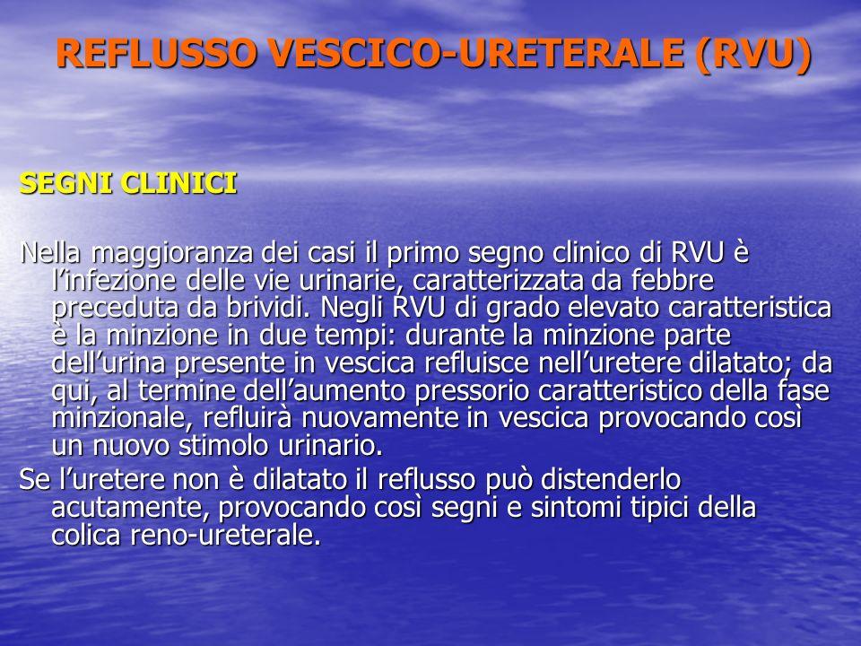 REFLUSSO VESCICO-URETERALE (RVU)