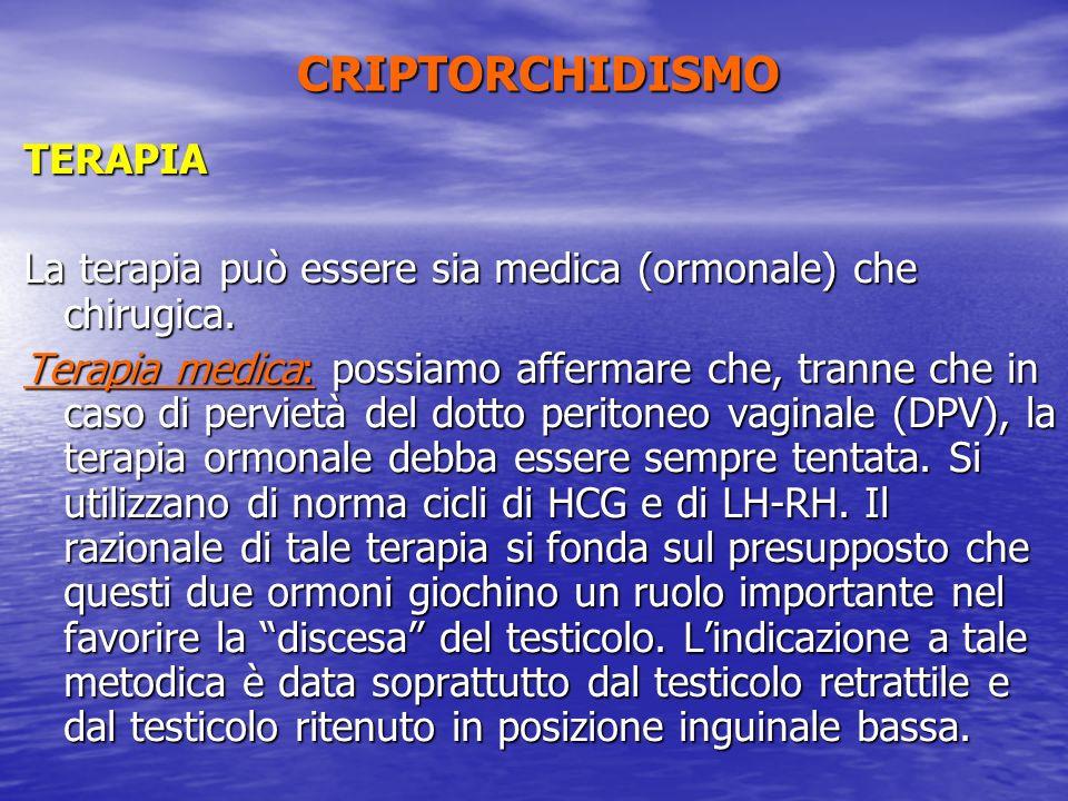 CRIPTORCHIDISMO TERAPIA