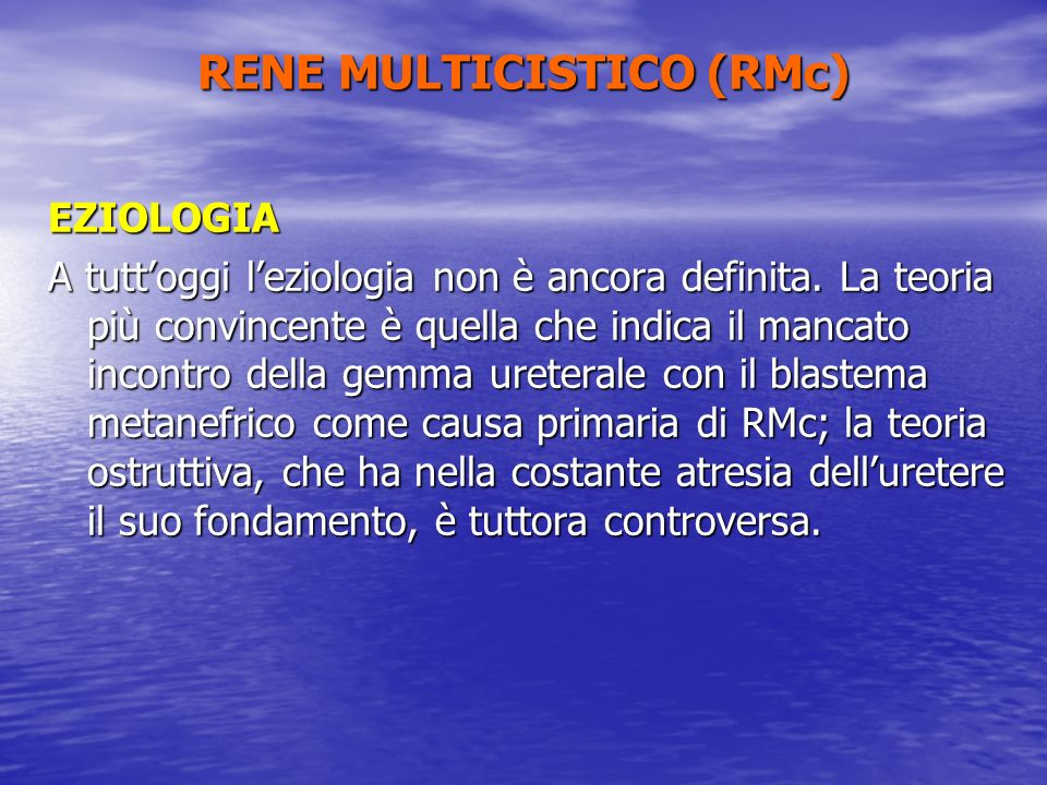 RENE MULTICISTICO (RMc)