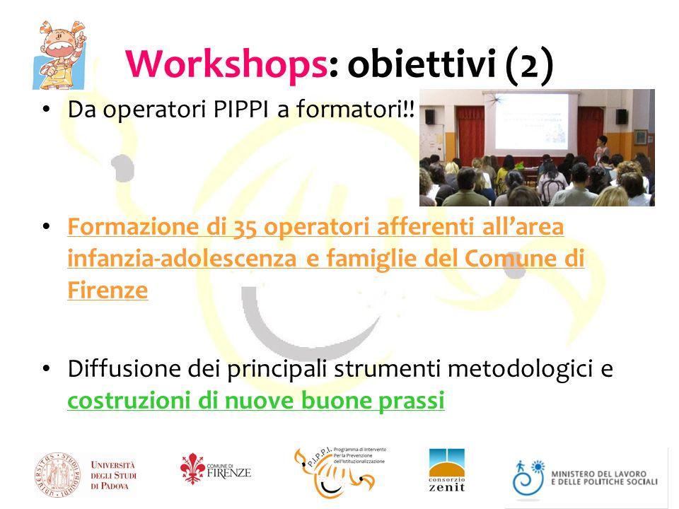 Workshops: obiettivi (2)