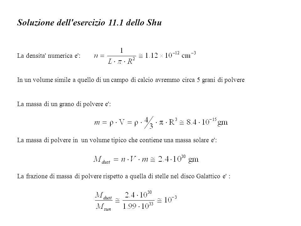 Soluzione dell esercizio 11.1 dello Shu