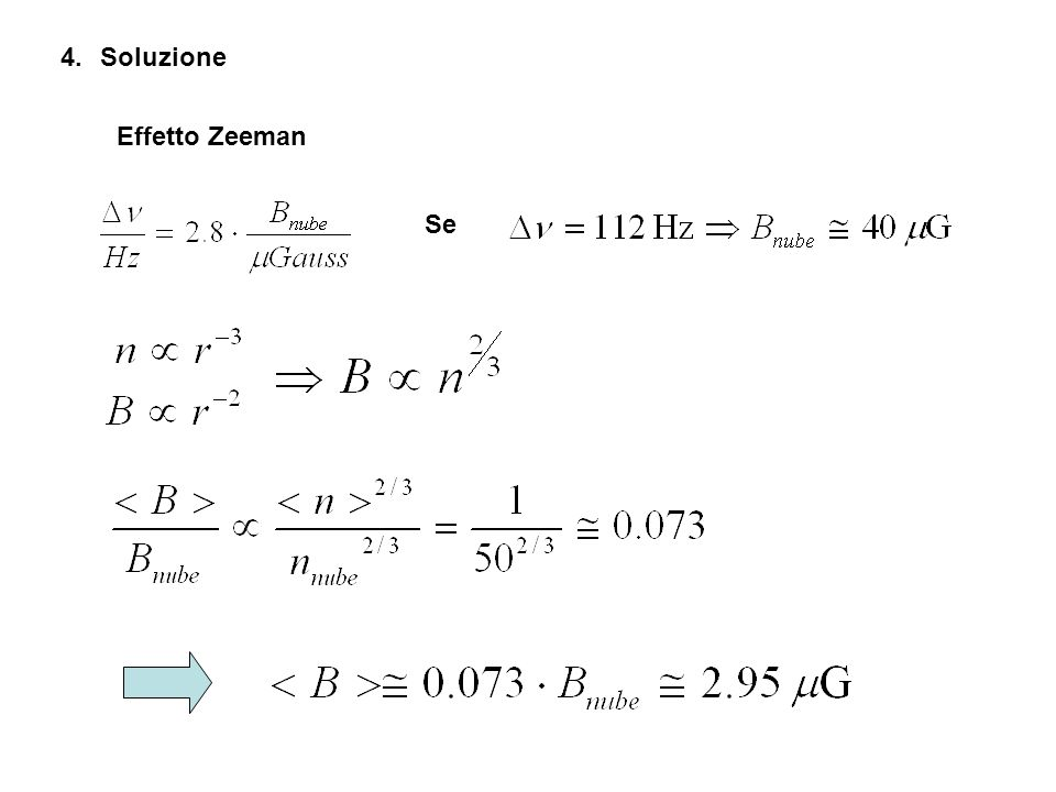 Soluzione Effetto Zeeman Se