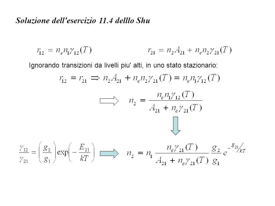 Soluzione dell esercizio 11.4 delllo Shu