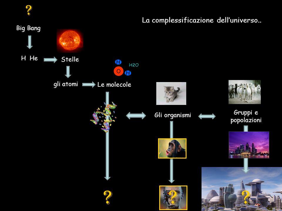 La complessificazione dell'universo..