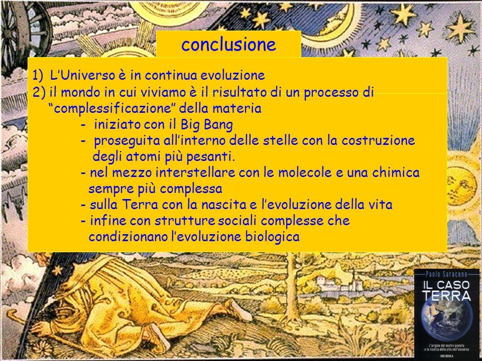 conclusione L'Universo è in continua evoluzione