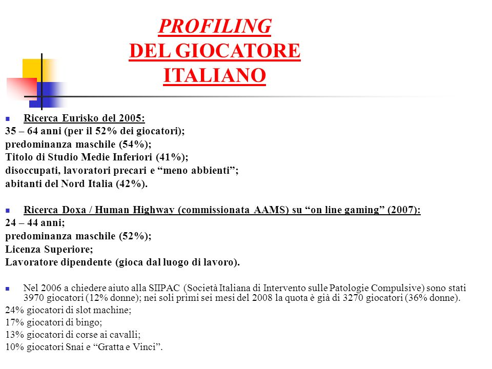 DEL GIOCATORE ITALIANO