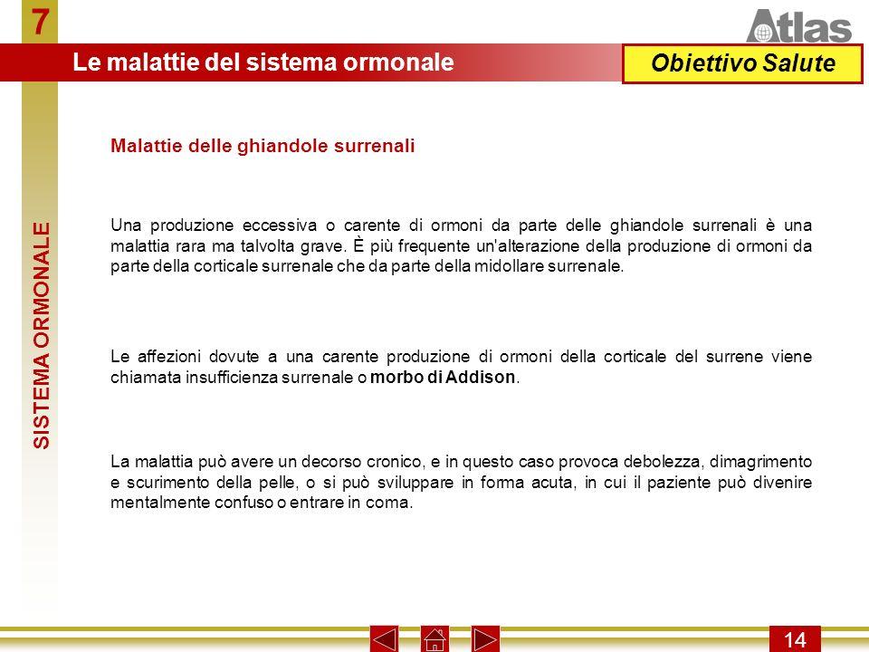 7 Le malattie del sistema ormonale Obiettivo Salute SISTEMA ORMONALE