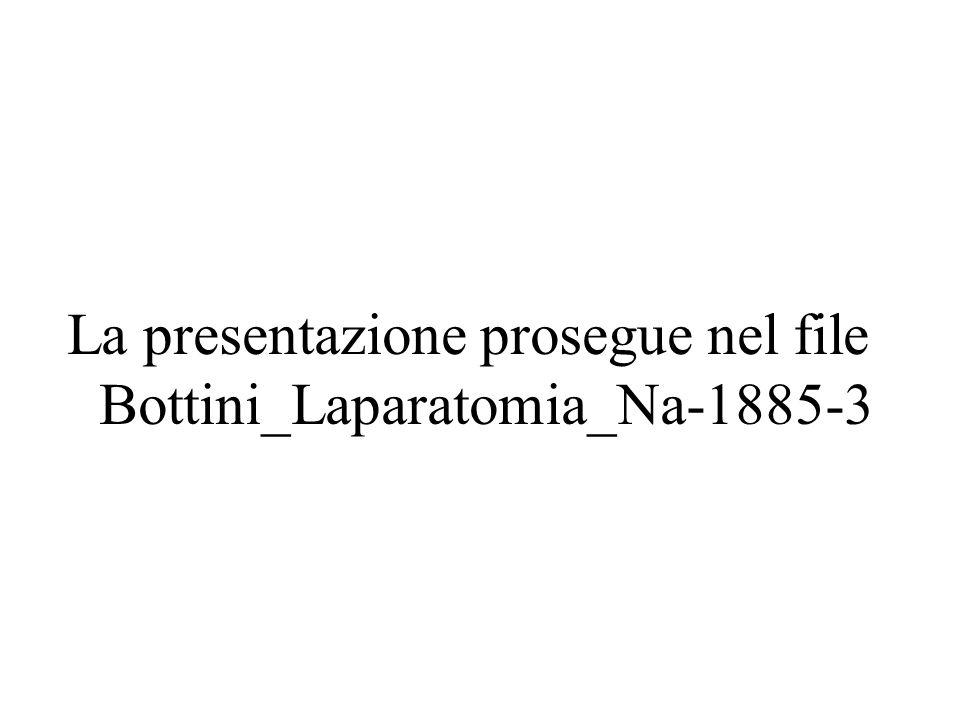 La presentazione prosegue nel file Bottini_Laparatomia_Na-1885-3