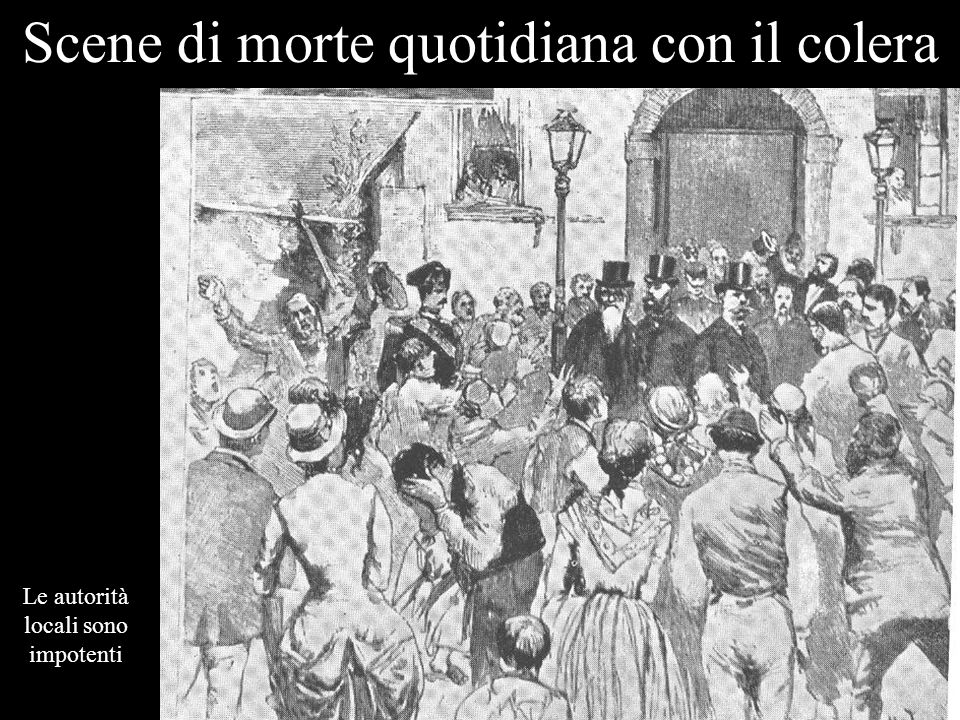 Scene di morte quotidiana con il colera