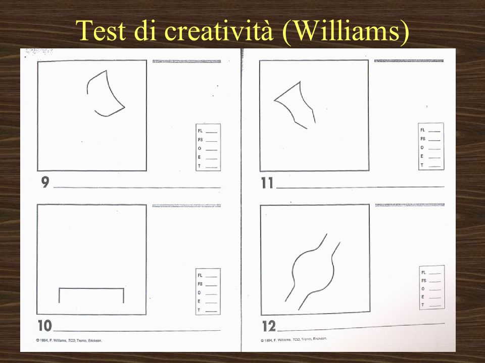 Test di creatività (Williams)