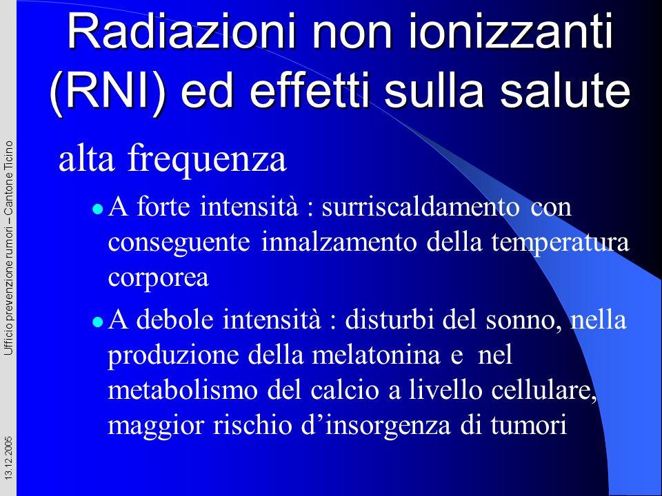 Radiazioni non ionizzanti (RNI) ed effetti sulla salute