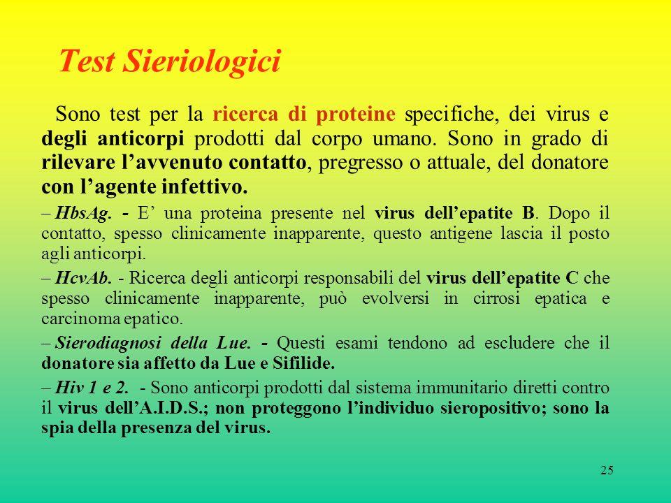 Test Sieriologici
