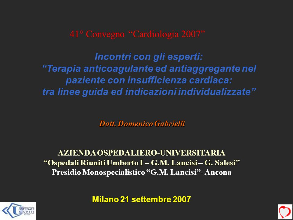 41° Convegno Cardiologia 2007