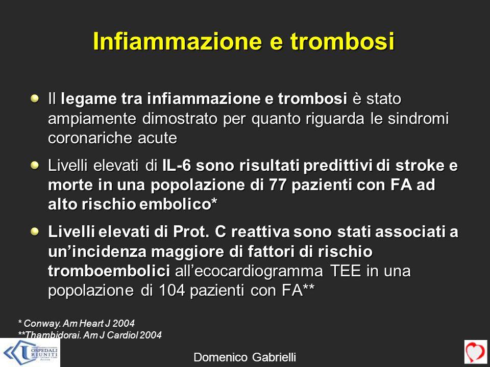 Infiammazione e trombosi