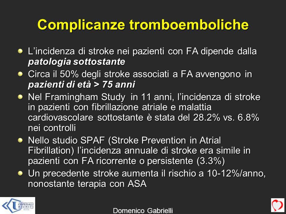 Complicanze tromboemboliche
