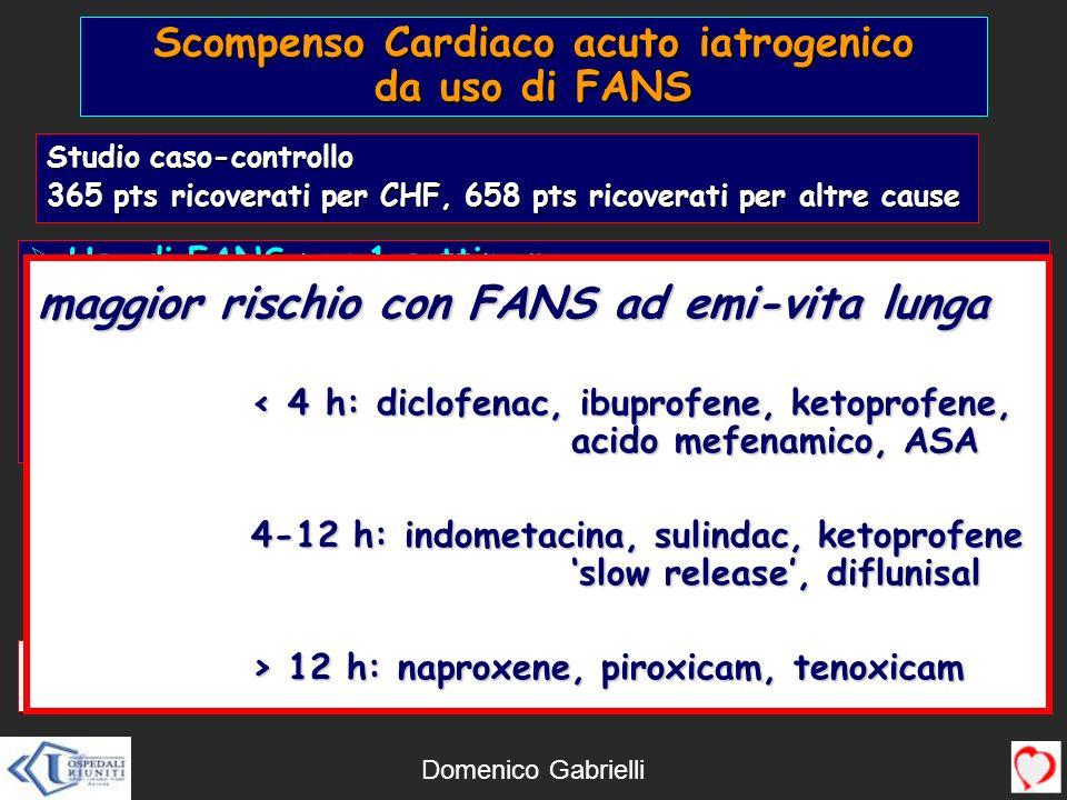 Scompenso Cardiaco acuto iatrogenico da uso di FANS