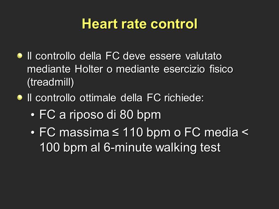 Heart rate control FC a riposo di 80 bpm